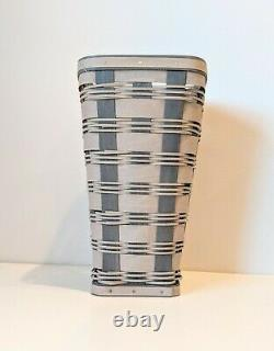 Longaberger Collectors Club Rare One Of A Kind Grey And White Vase Basket