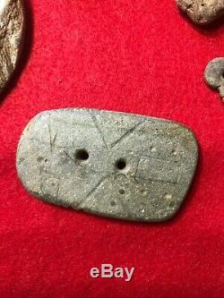 MLC S4527 (5) Un Rare Of A Kind Nouvelle-angleterre Des Objets Anciens Ax Pendentifs Hausses-col