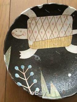 Makoto Kagoshima Plate Bowl Tortue One-of-a-kind D'occasion Non Utilisée Jpn Rare
