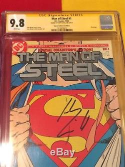 Man Of Steel # 1 Cgc 9.8 Signé Henry Cavill, Superman, Wonder Woman, Unique En Son Genre