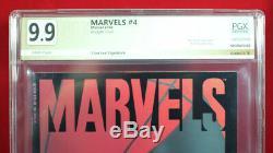 Marvelles N ° 4 (1994 Marvel) Pgx 9,9 Mt Mint Signé Stan Lee. Unique En Son Genre