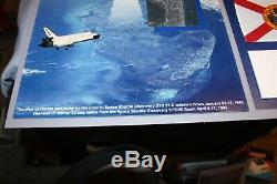Nasa La Navette Spatiale Discovery Paire De L'espace Drapeaux Flown Une Pièce Unique