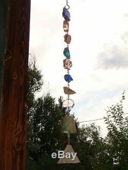 Nouveau Arcosanti Paolo Soleri 26 Bronze Vent De Bell Rain Chain one Of A Kind Beauté