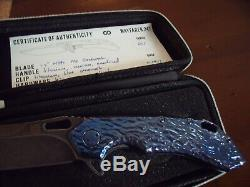 Olamic La Lave En Fusion Wayfarer Bleu / Violet Stonewash Noir M390 One Of A Kind Bnib