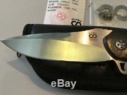 Olamic Tactique Sur Mesure Wayfarer Un D'une Sorte Flipper Dossier Couteau