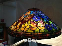 One Of A Fait Main Genre Vitrail Dragon Fly Abat Style Tiffany