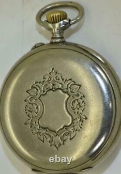 One Of A Kind Antique Wwi Longines Deux Fuseaux Horaires Montre De Poche Pour La Marine Ottomane