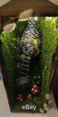 One Of A Kind Booknook Book Shelf Nook Insérer Lunatique Diorama Fée Art