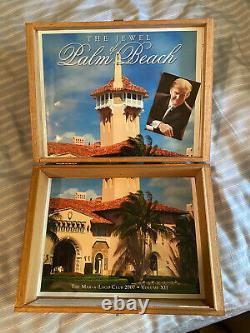 One Of A Kind Donald Trump Dédicacé Mar-a-lago Cente Commémoratif Cigar Box Maga