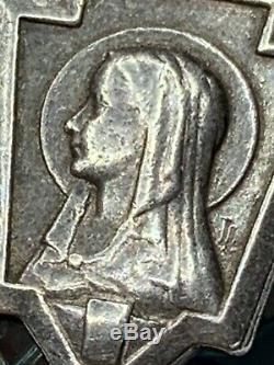 One Of A Kind Énorme Antique Sterling Saphiret Fait Véritable Chapelet D'or