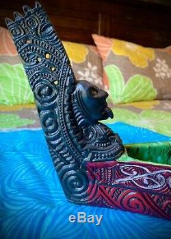 One Of A Kind Geckoz Mer Du Sud Arts Waka Autearoa Guerre Canoë Tiki Tasse Boisson Bol