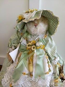 One Of A Kind Handmade Bunnies Par The Bay Mohair Bunny Fern Foliage & Fig #1/1