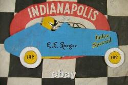 One Of A Kind Indy 500 Collections 3 Signed Flags 1950's Tickets Autographes