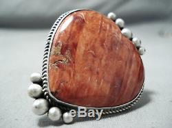 One Of A Kind Navajo Aiguillat Oyster Shell Coeur En Argent Sterling Bague