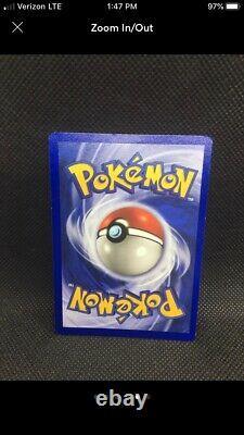 One Of A Kind Screen Holo Bleed Error Machamp 1st Edition Base Set Pokemon Nm