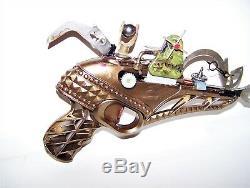 One Of A Kind Steampunk Pistolet Espace Ray Gun Prop. Jonque Art Blaster