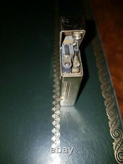One Of A Kind Vintage Deco 14k Gold Dunhill Petrol Lighter With Rubies