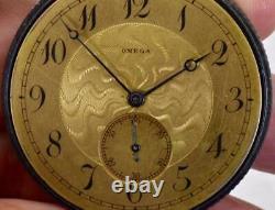 One Of A Kind Wwi Omega Gunmetal, Silver & Enamel Award Pocket Watch&iron Cross Fob