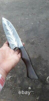 One Of Kind Damascus Steel Custom Custom Made Chef Couteau Mosaic Cinmaye 12 Wengie