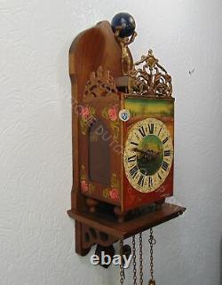 One Of Kind Oak Twentse Stoel Horloge Murale Avec Décoration Florale