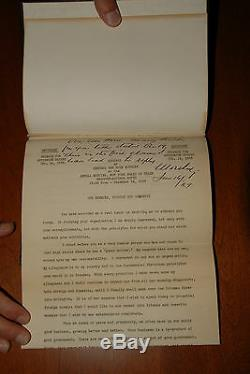 One-of-a-kind Général Van Horn Moseley Signé Adresse Guerre Mondiale Wwi Wwii