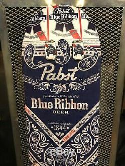 Pbr Pabst Ruban Bleu Bière D'un Rare De Nature Que Ce Soit Skateboards Personnalisés Conseil Publicité Connexion