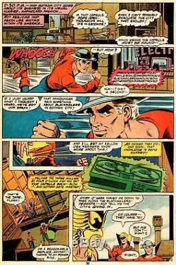 Plaque D'impression Originale DC Comics Rare 1979 One-of-a-kind Le Flash Et Jsa