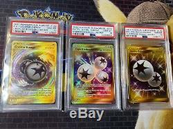 Pokemon Psa 10 Sun & Moon Secret Énergie 21 Card Collection (un D'une Sorte)