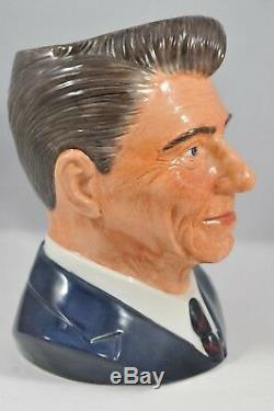 Président Ronald Reagan Royal Doulton Toby Jug Prototype Rare Unique En Son Genre