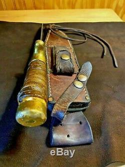 R H Ruana Bowie Knife Guard Special One-of-a-kind Personnalisé Par Rudy 35b Reconstruire