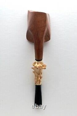 Radice Clear Collect Roe Deer Antler Pipe Tabac Italien Un D'un Genre