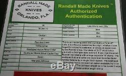 Randall Made Couteaux Personnalise D'un Genre Et Authentifié