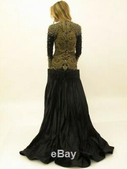 Rare! Alexander Mcqueen Collection Finale Robe Piste Couture Robe One Of A Kind