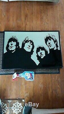 Rare, Beatles Vintage Fait Main One-of-a-kind Miroir! 21 Par 31 Pouces. 3/4 D'épaisseur