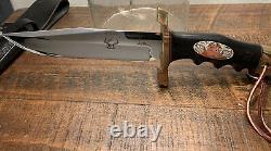 Rare Couteau De Chasse Gil Hibben Kenpo Fait Main
