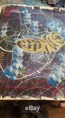 Rare D'une Sorte Jerry Garcia Dédicacé Peinture