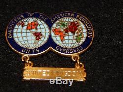 Rare Dar Units Overseas Royaume Uni Je Caldwell Gold Filled Unique En Son Genre