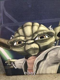 Rare Disney Star Wars Week-end Prop Une D'une Toile Genre Art Yoda 36 X 36