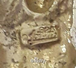 Rare Huge 5sterling Silver Un Des Pierres Kind1 Crucifix Cross Lrg Pendant