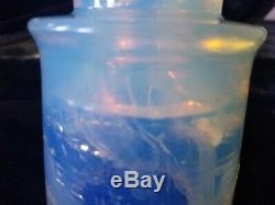 Rare Insulator Opalescent Saphire Blanc Gem Un D'un Genre Hemingray