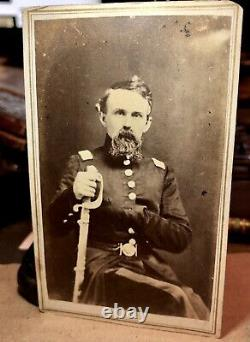 Rare One Of A Kind 1860 CDV Photo Géorgie Guerre Civile Confédérer Les Doles Généraux