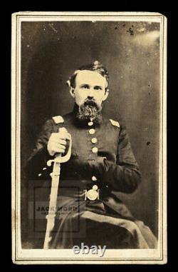 Rare One Of A Kind 1860s Photo Géorgie Guerre CDV Civile Confédérée General Doles