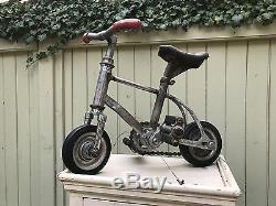 Rare, Vintage Cirque Clown Bike 14 X 14 / Miniature / Art Populaire Unique En Son Genre