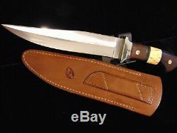 Rare Vintage D'un Genre Norman P. Bardsley Couteau De Combat Sur Mesure Et Gaine