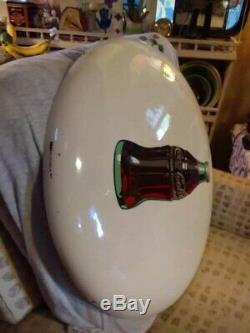 Rare Vintage White 1950 Coca Cola 24 Bouton De Porcelaine Se Connecter One Of A Kind