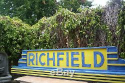 Richfield Gaz Énorme 0ver 7 Pieds De Large. Unique En Son Genre