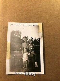Ronald Reagan Rare One Of A Kind Candid Photo Torse Nu Avec Ses Enfants Des Années 40