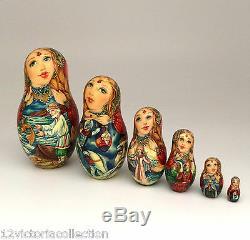 Rouslan Et Ludmila Unique De La Pièce Set Art Nesting Kind Russe Doll 10