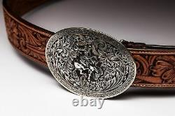Sauvage Sterling 24k Rodeo Trophy Buckle & Belt Combo Incroyable One-of-a-kind