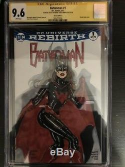 Sexy Batwoman 9.6 Cgc Ss Sketch Couverture Oa Art Original Signé One Of A Kind